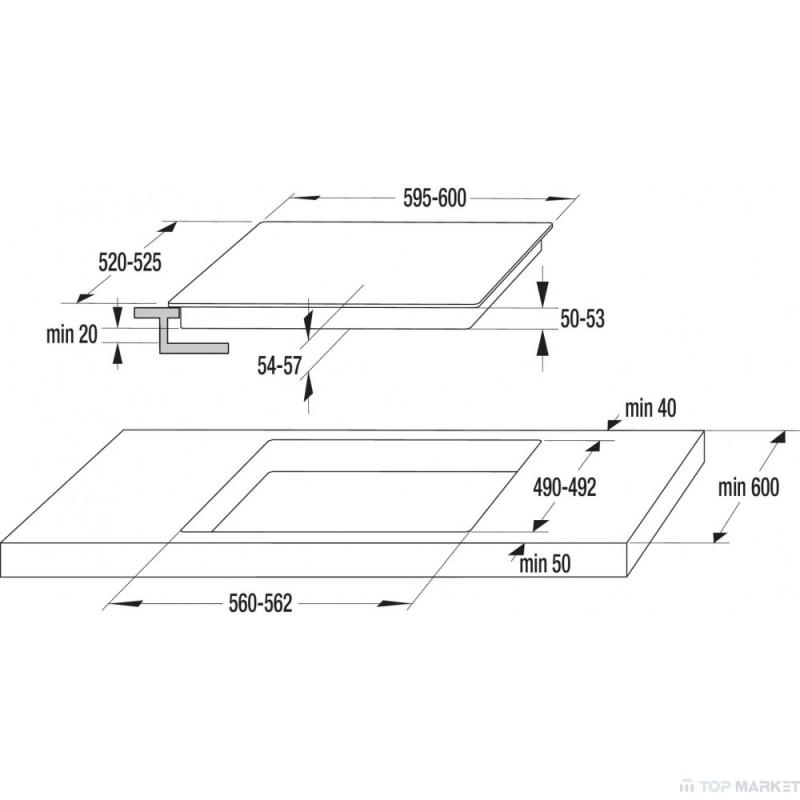 Стъклокерамичен плот ECS646BCSC